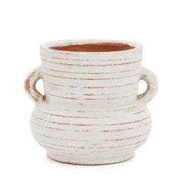 """Small White & Terra Cotta Pena Vase H7"""""""