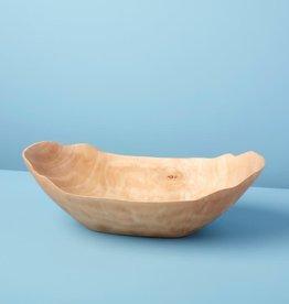 """Large Kiln Mango Wood Petal Bowl L16.25"""" W9.25"""" H5.25"""""""