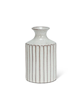"""Small Ribbed Tall Neck Vase H7"""""""