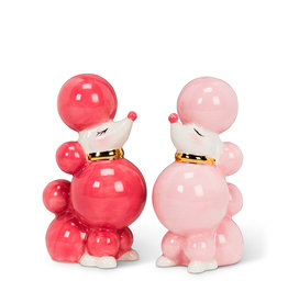 """Pink Poodle Salt & Pepper H3.5"""""""