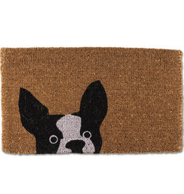 """Peeking Dog Doormat L18"""" W30"""""""