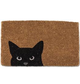 """Peeking Cat Doormat L18"""" W30"""""""