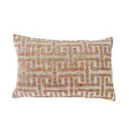 """Liza Taupe Velvet Pillow 16 x 24"""""""
