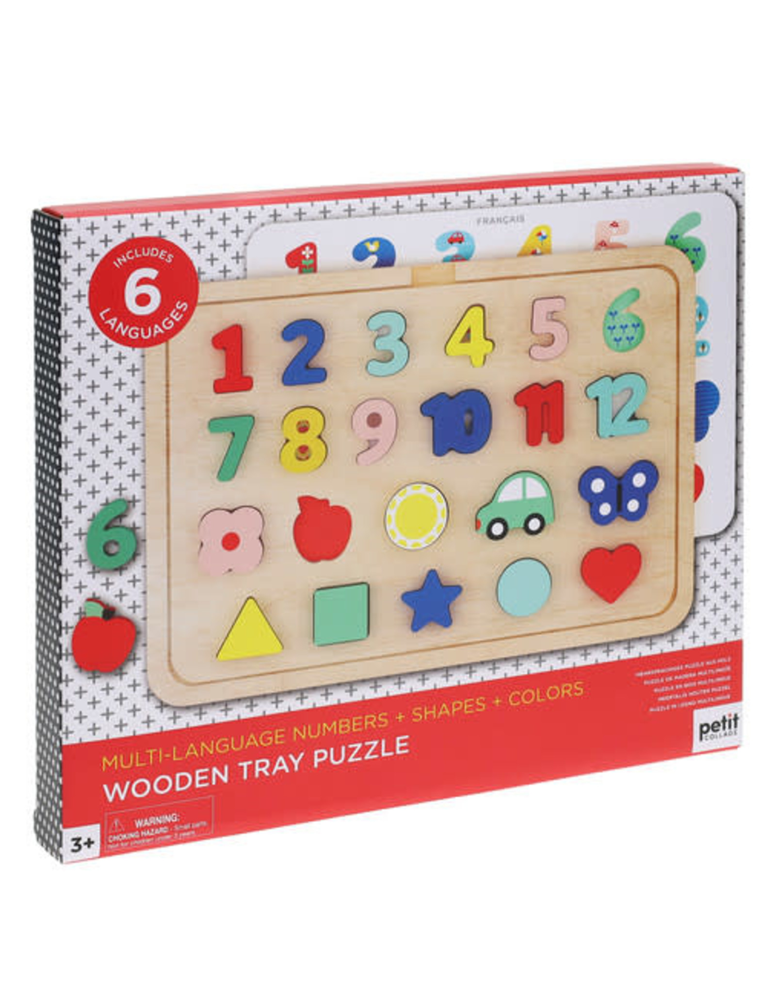 Numbers, Shapes, and Colors Wooden Tray Puzzle