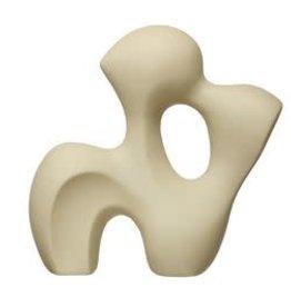 "Stoneware Sculpture with Matte Sand Finish H11.25"" L11.25"" W4"""