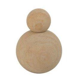 """Stacked Sandstone Objet D'Art Orbs H5.5"""" D3.5"""""""