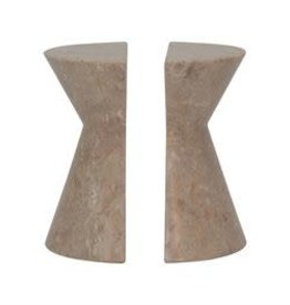 """Beige Marble Bookends H6"""" W2.25"""""""