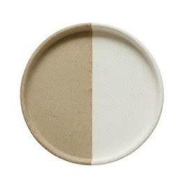 """Round Two-Tone Stoneware Tray D9.75"""""""