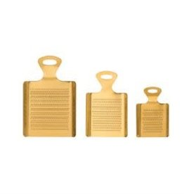 """Large Gold Finish Stainless Steel Grater L5.25"""""""
