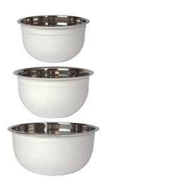White Mixing Bowls Set of 3