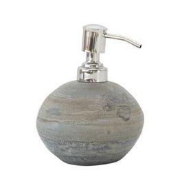 """Round Slate Soap Dispenser D4"""" H.5"""""""