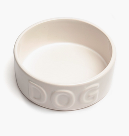 """Small White Classic Dog Bowl D5.25"""" H2"""""""