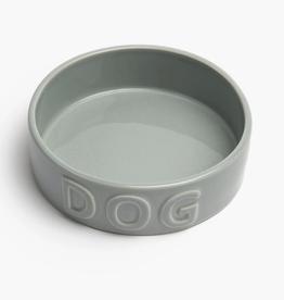 "Medium Grey Classic Dog Bowl D6.25"" H2"""
