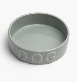 "Large Grey Classic Dog Bowl D8.5"" H3.25"""