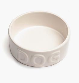 "Medium White Classic Dog Bowl D6.5"" H2"""
