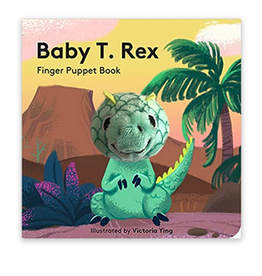 Finger Puppet Baby T Rex Book
