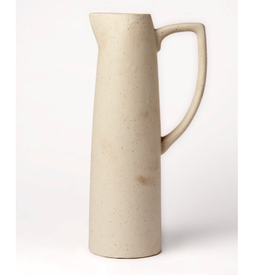 "Stone/Cream D Ceramic Pitcher H12"""