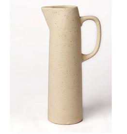 """Stone/Cream E Ceramic Pitcher H8"""""""