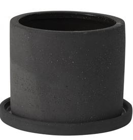 "Medium Black Easton Pot D5.5"" H4.25"""