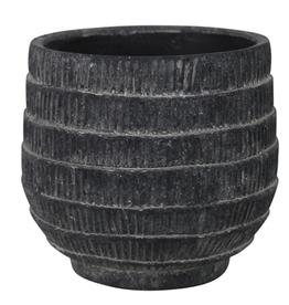 "Medium Black Cyrus Cachepot D5.5"" H5.5"""