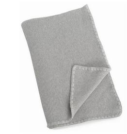 "Grey Mia Cotton Baby Blanket L30"" W40"""