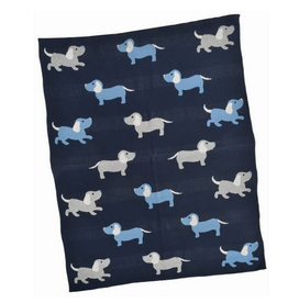 "Blue Dog Baby Blanket L30"" W40"""