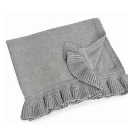 "Grey Winona Cotton Baby Blanket L30"" W40"""