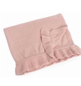 "Pink Winona Cotton Baby Blanket L30"" W40"""