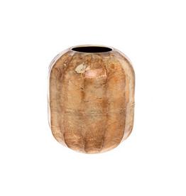 "Small Champagne Blush Cobblestone Vase D6.25"" H7.25"""