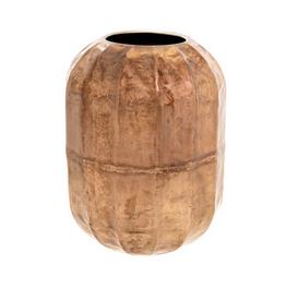 "Large Champagne Blush Cobblestone Vase D7.85"" H10.5"""