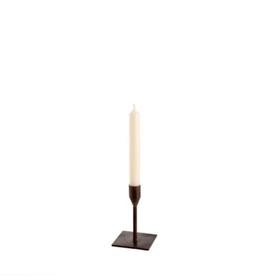 "Small Leather Bonita Candlestick H4.75"""