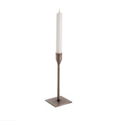 "Medium Silver Bonita Candlestick H7.75"""