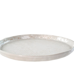"""Round Basketweave Platter D14.4"""""""