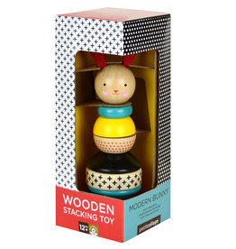 """Modern Bunny Wooden Stacking Toy H8.5"""""""
