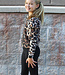 LEOPARD PUFF SLV TOP