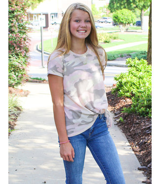 WAFFLE CAMO TOP- Two Colors