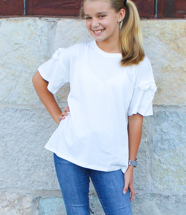 BOW SLEEVE TEE OFF