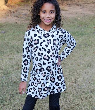 HOODIE DRESS- Leopard