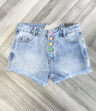 RAINBOW BUTTON SHORT