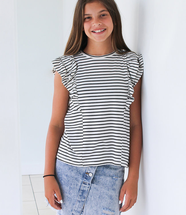 Layered Ruffle Top- 2 Colors