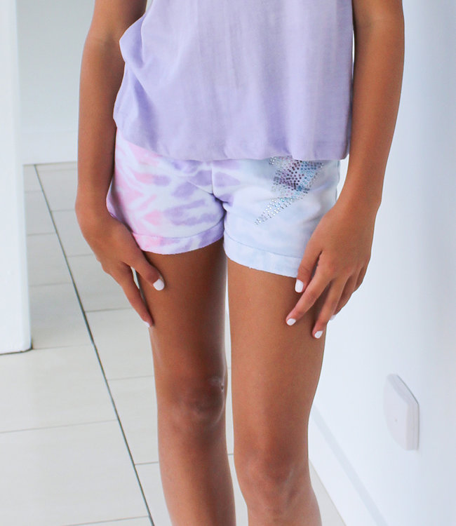 DISTRESSED STUDS SHORT- 2 Colors