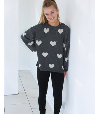 HEARTS ABOUT IT SWEATER