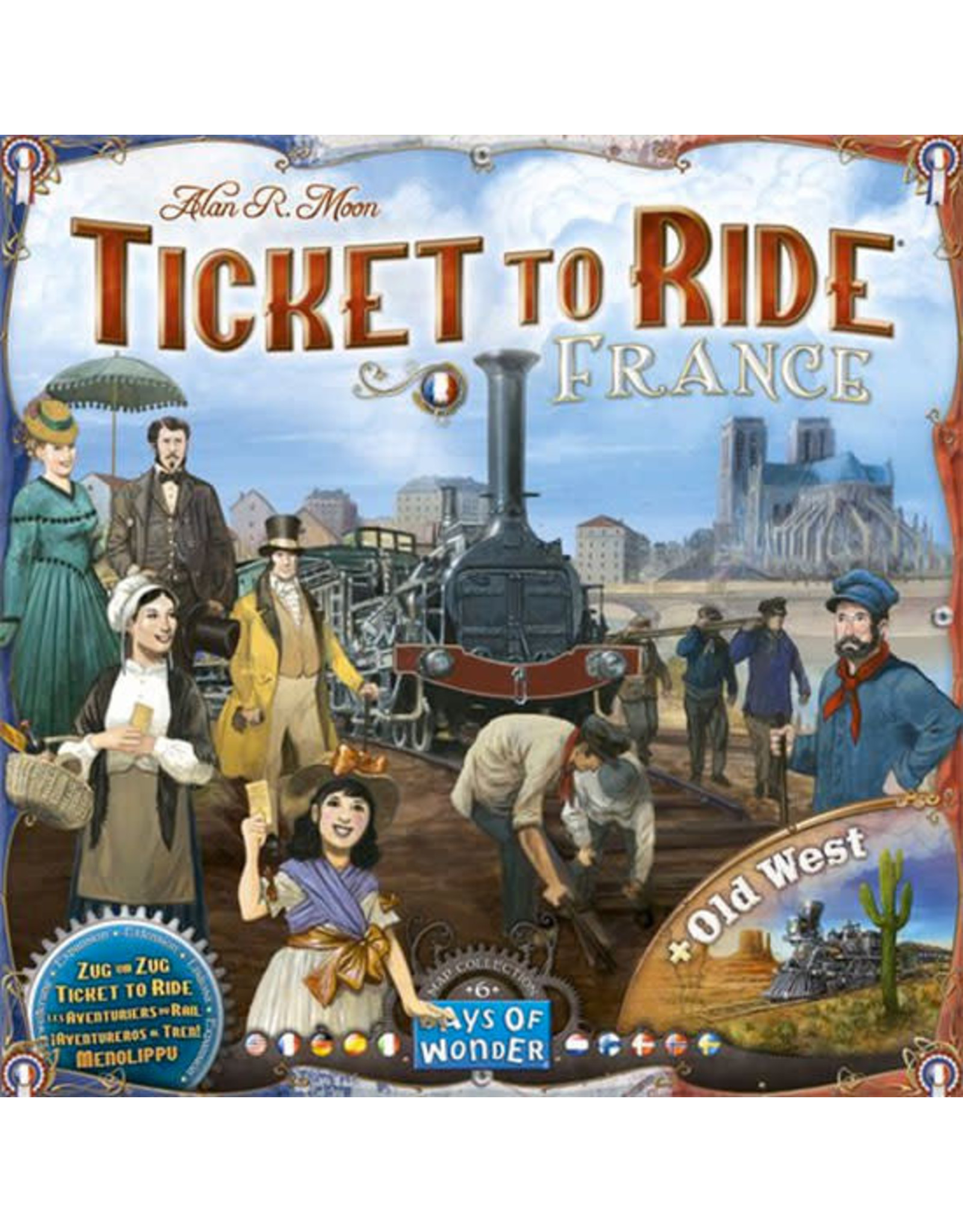 Ticket to Ride Expansion France and Old West