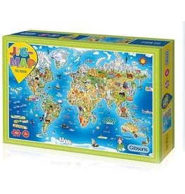Gibsons Gibsons Jig-Map Our World 250