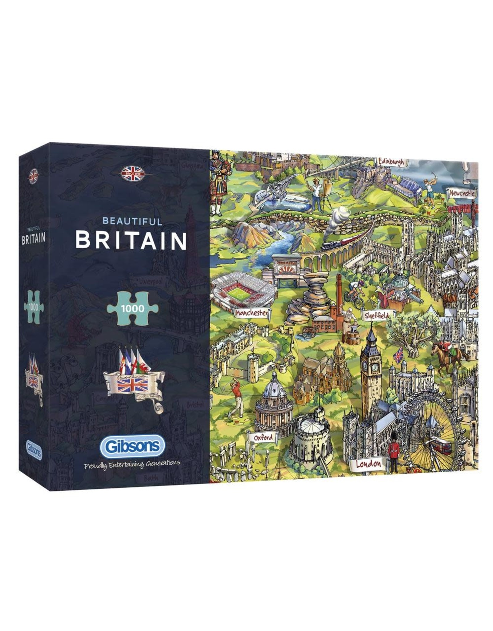 Gibsons Gibsons Beautiful Britain 1000 pieces