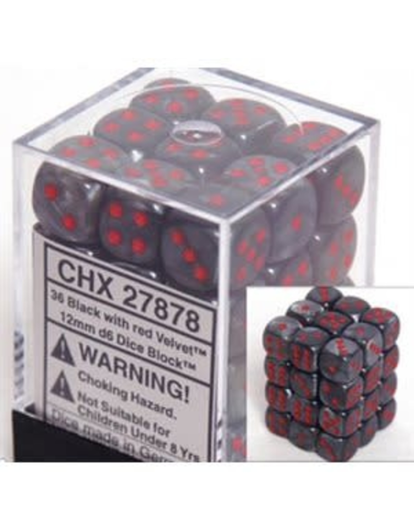 Chessex Chessex Velvet 12mm (36d6)