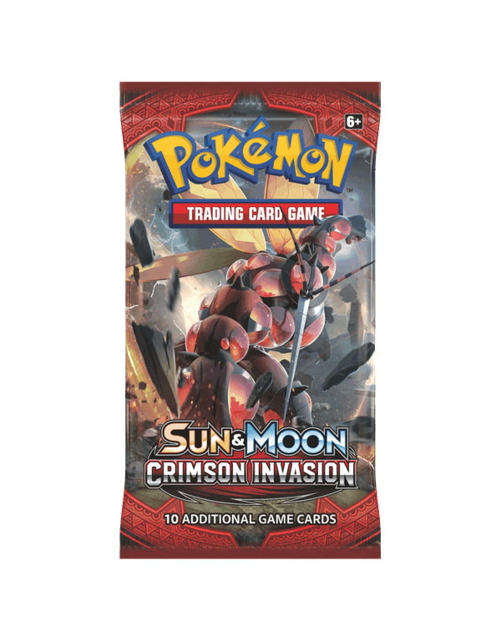 Pokemon Sun & Moon Crimson Invasion Booster