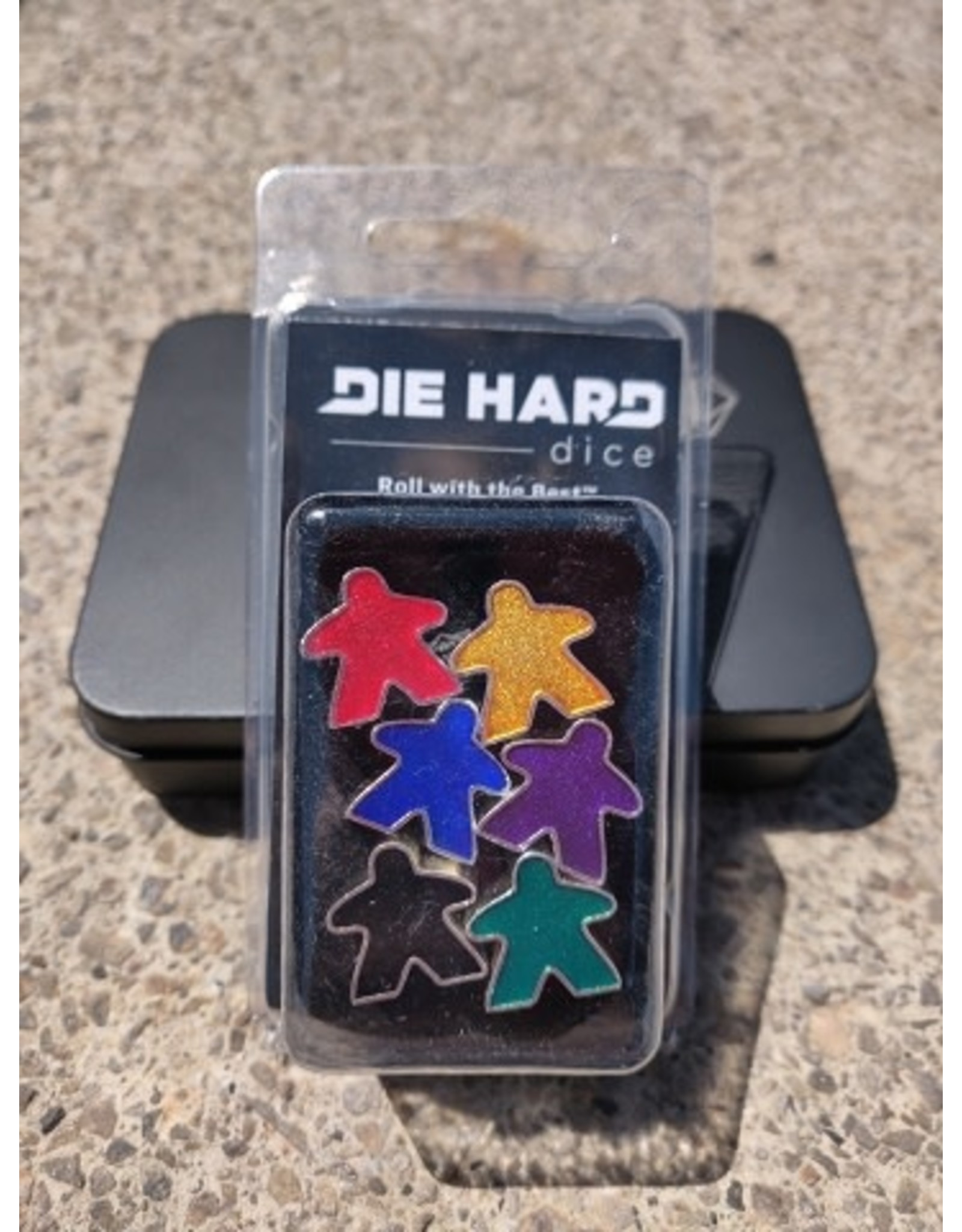Die Hard Dice Metal Meeples: Set of Six
