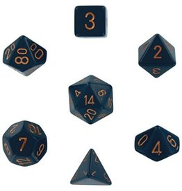 Chessex Chessex Opaque (7pc Set) Blue/Copper
