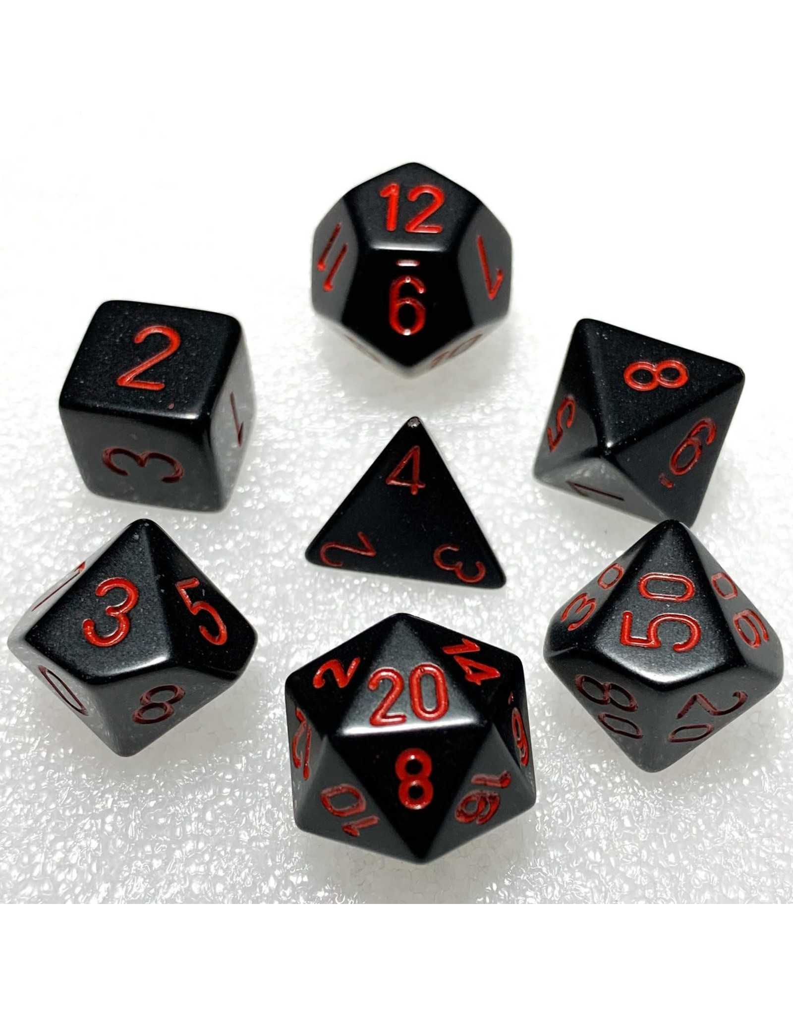 Chessex Chessex Opaque (7pc Set) Black/Red